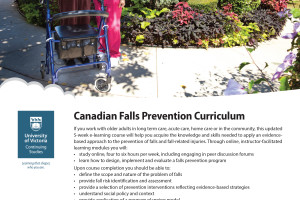 Canadian Fall Prevention Curriculum Online Course, February 12 – March 18